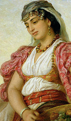 Exotic Beauty Painting - A Woman From Algiers by John Evan Hodgson