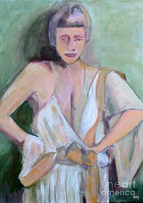 A Woman In Love Print by Diane montana Jansson
