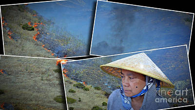 Vietnam Photograph - A Woman On A Hill II by Jim Fitzpatrick