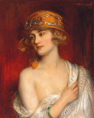 Reverie Painting - A Young Beauty by Albert Lynch