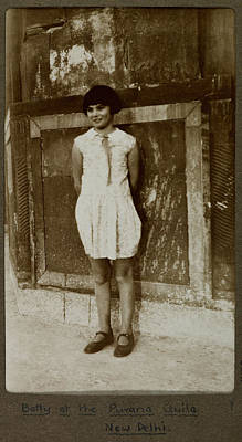 Dilli Photograph - A Young Child Called Betty by British Library