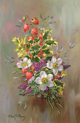 Variegated Painting - A Yuletide Posy by Albert Williams