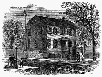 Aaron Burr Birthplace Print by Granger