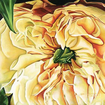 Sunburst Floral Still Life Painting - Abandon by Edythe Alexander