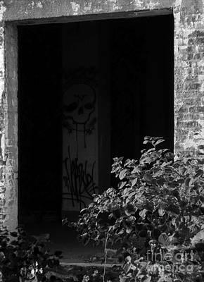 Abandon Hope All Ye Who Enter Here - Bw Print by James Aiken