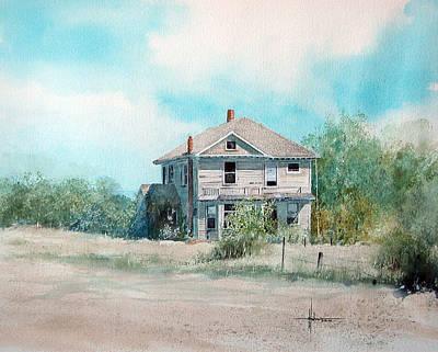 Abandoned Farm House Painting - Abandon House by Richard Hahn