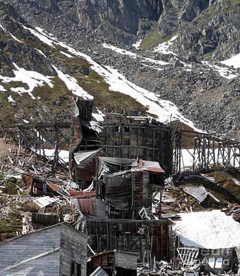 Prints Of Alaska Photograph - Abandoned Alaskan Gold Mine by Dani Abbott
