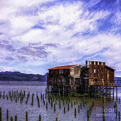 Metal Fish Art Photograph - Abandoned Astoria Cannery by Jean OKeeffe Macro Abundance Art