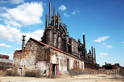 Old School Galleries Photograph - Abandoned Bethlehem Steel by John Rizzuto