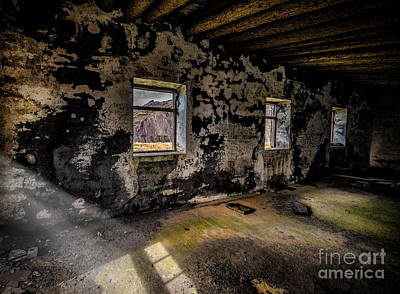 Abandoned Building Print by Adrian Evans