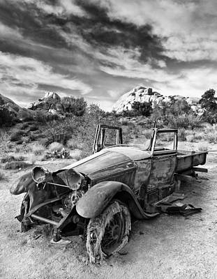 Derelict Photograph - Abandoned Car by Alexis Birkill