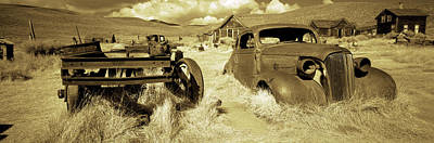 Abandoned Car In A Ghost Town, Bodie Print by Panoramic Images