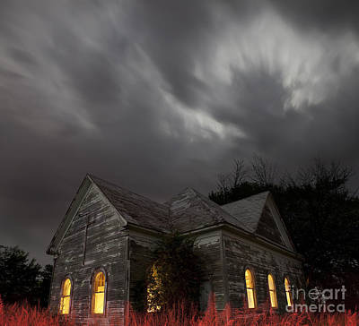 Built Structure Photograph - Abandoned Church Of Walters Oklahoma by Keith Kapple