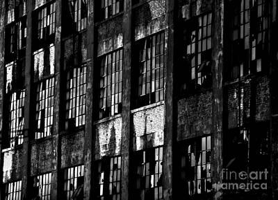 Abandoned Denaturing Plant - Bw Print by James Aiken