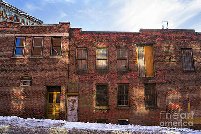 Winter Street Photograph - Abandoned by Diane Diederich