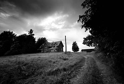 Haunted House Photograph - Abandoned Farm Home by Cale Best