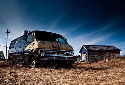 Custom Ford Photograph - Abandoned Ford Van by Cale Best