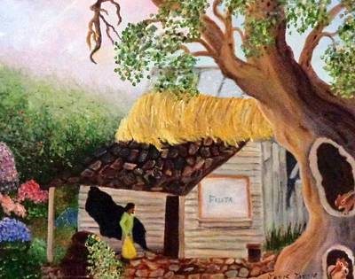 Fruit Stand Painting - Abandoned Fruit Stand In Costa Maya Mexico by Janis  Tafoya