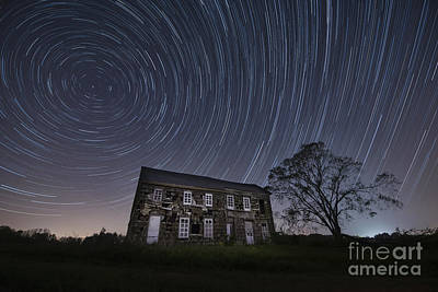 Abandoned History Star Trails Original by Michael Ver Sprill