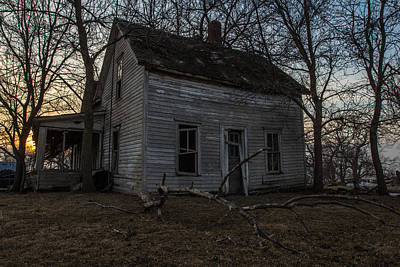 Abandoned Home Print by Aaron J Groen