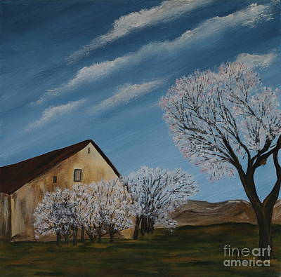 Abandoned Farm House Painting - Abandoned House In Spring by Christiane Schulze Art And Photography