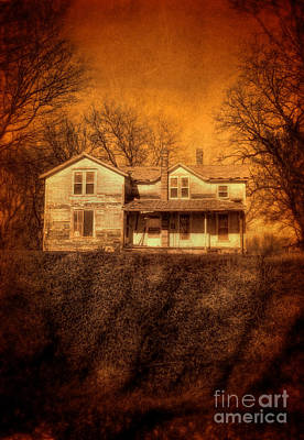 Abandoned House Sunset Print by Jill Battaglia