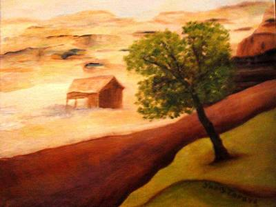 Pinion Painting - Abandoned by Janis  Tafoya