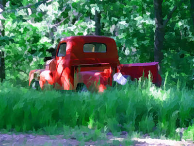 Truck Mixed Media - Abandoned by Julie Grace