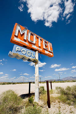 Old Sign Photograph - Abandoned Motel by Peter Tellone