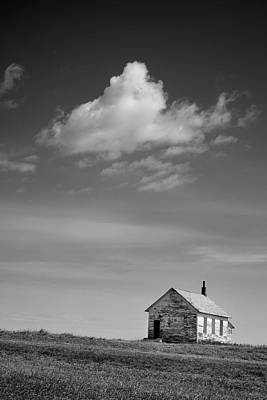Abandoned One-room Country School Building Print by Donald  Erickson