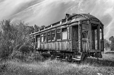 Train Depot Photograph - Abandoned Passenger Train Coach by Daniel Hagerman