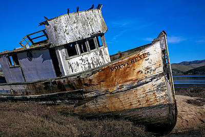 Water Vessels Photograph - Abandoned Point Reyes by Garry Gay