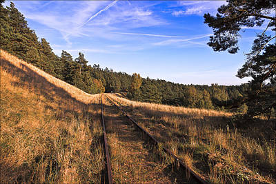 Empty Photograph - Abandoned Railroad Tracks by EXparte SE