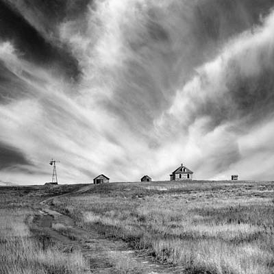 Abandoned Ranch Buildings Print by Donald  Erickson