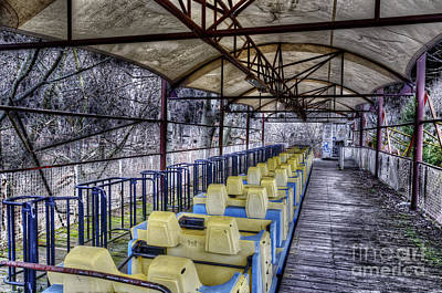 Roller Coaster Photograph - Abandoned Roller Coaster Berlin by Colin Woods