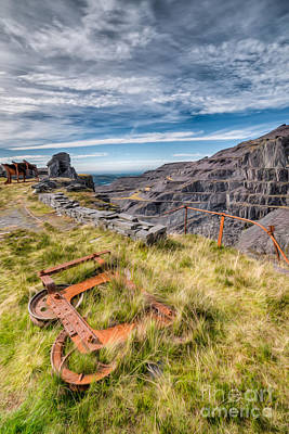 Abandoned Slate Quarry Print by Adrian Evans