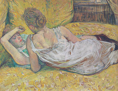 Bed Painting - Abandonment by Henri de Toulouse-Lautrec