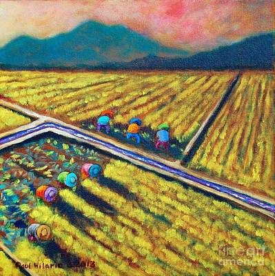 Rice Painting - Abante Forward by Paul Hilario