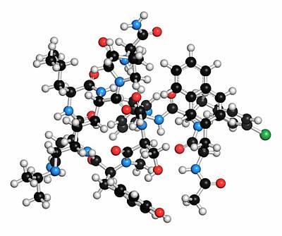 Oncology Photograph - Abarelix Drug Molecule by Molekuul