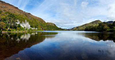 Connemara Photograph - Abbey On The Banks Of Fannon Pool by Panoramic Images
