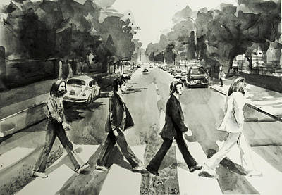 Beatles Drawing - Abbey Road by Bekim Art