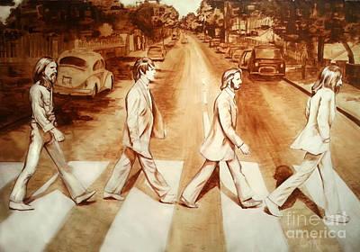 Abbey Road Painting - Abbey Road by Oscar Hernandez