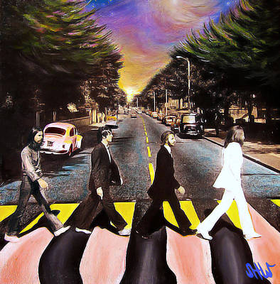 Ringo Painting - Abbey Road by Steve Will
