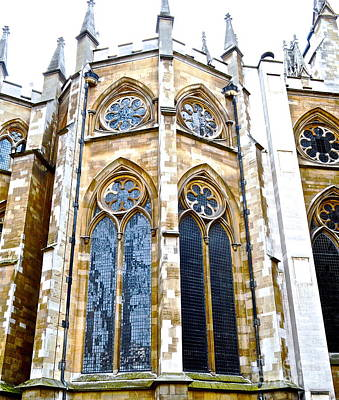 Westminster Abbey Digital Art - Abbey Windows by Brad Gravelle