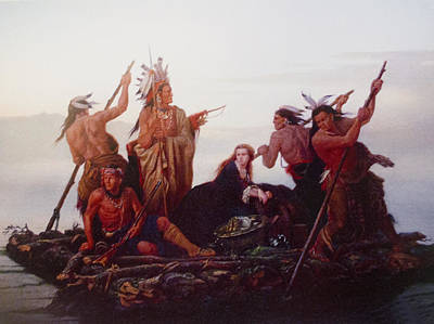 Native American Woman Digital Art - Abduction Of Boones Daughter by Karl Ferdinand Wimar