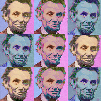 Abe Lincoln Smiles Repeat 1 Print by Tony Rubino