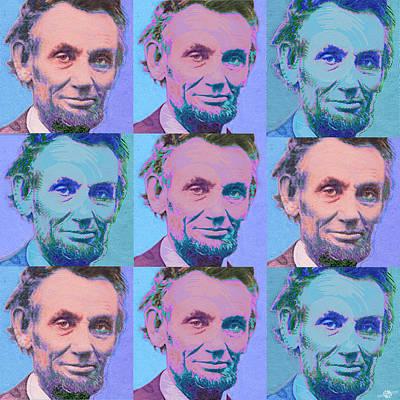Abe Lincoln Smiles Repeat 2 Original by Tony Rubino