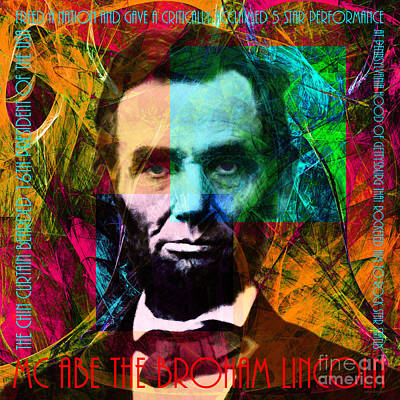 Abraham Lincoln Digital Art - Abe The Broham Lincoln 20140217 by Wingsdomain Art and Photography