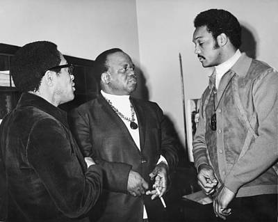 Negro Photograph - Abernathy And Jesse Jackson by Underwood Archives
