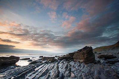 Izzy Photograph - Aberystwyth Beach Sunset by Izzy Standbridge